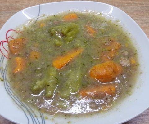 Édesburgonyás brokkoli főzelék